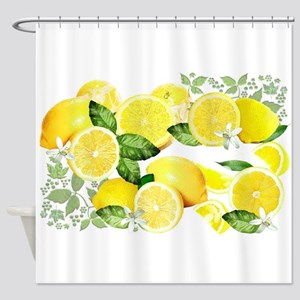 Acid Lemon from Calabria Shower Curtain