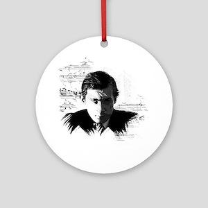 Glenn Gould Round Ornament