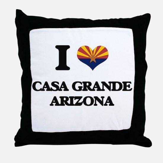 I love Casa Grande Arizona Throw Pillow