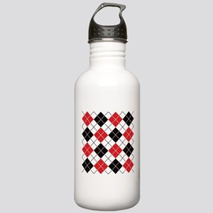 Dashed Argyle Stainless Water Bottle 1.0L