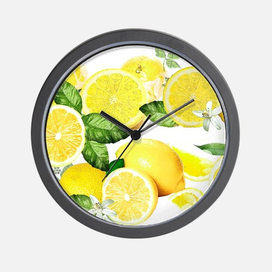 Acid Lemon from Calabria Wall Clock