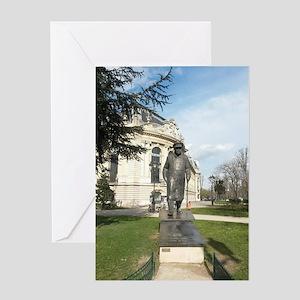 winston churchill in paris Greeting Cards