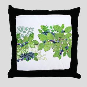 Blueberries from Nova Scotia Throw Pillow
