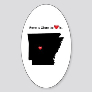 Home is Where the Heart Is Sticker (Oval)