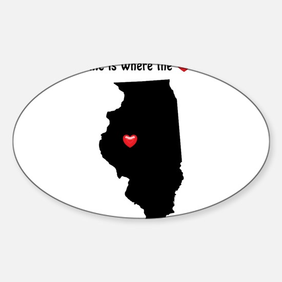ILLINOIS Home is Where the Heart Is Decal