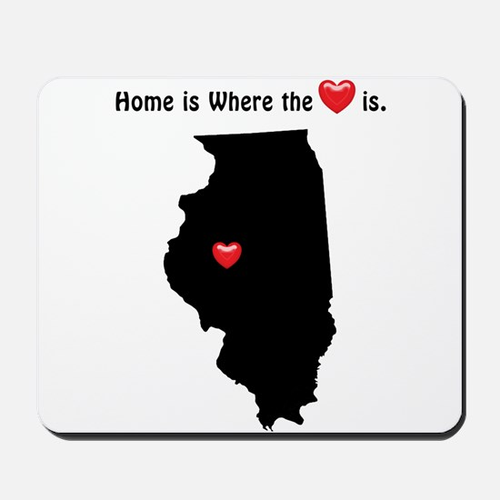 ILLINOIS Home is Where the Heart Is Mousepad