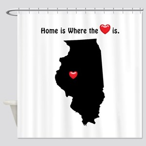 ILLINOIS Home is Where the Heart Is Shower Curtain