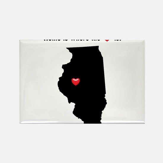 ILLINOIS Home is Where the Heart Is Magnets