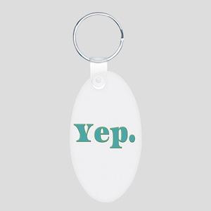Yep Aluminum Oval Keychain