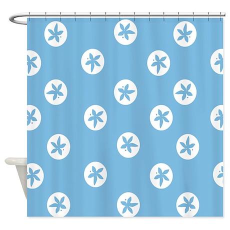 Sand Dollars On Aquamarine Shower Curtain