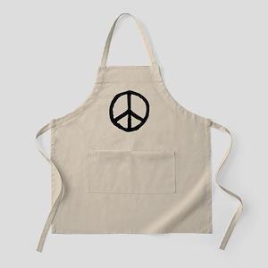 Rough Peace Symbol - Black Apron