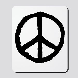 Rough Peace Symbol - Black Mousepad