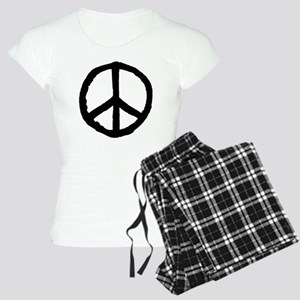 Rough Peace Symbol - Black Women's Light Pajamas