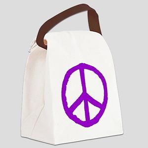 Rough Peace Symbol Canvas Lunch Bag