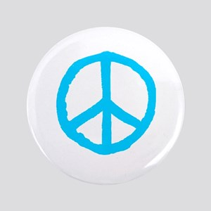 Rough Peace Symbol Button