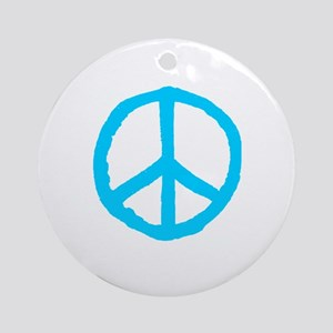 Rough Peace Symbol Round Ornament