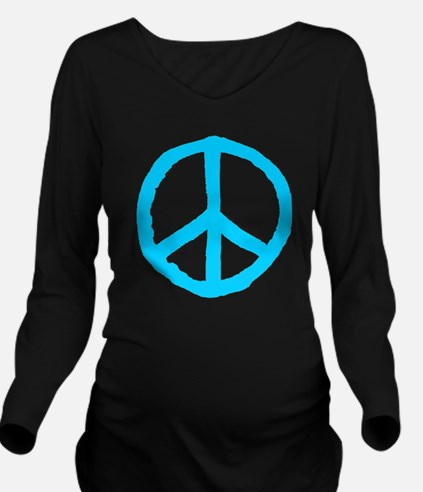 Rough Peace Symbol Long Sleeve Maternity T-Shirt