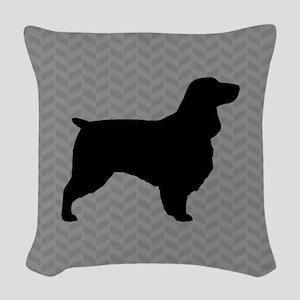Field Spaniel Woven Throw Pillow