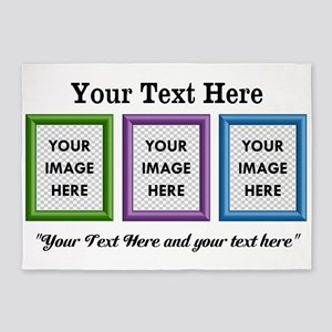 CUSTOM 3 Image Frame Green Blue Purple 5'x7'Area R