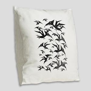 Jurassic Pets Burlap Throw Pillow