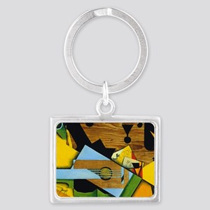 Still Life with a Guitar by Jua Landscape Keychain
