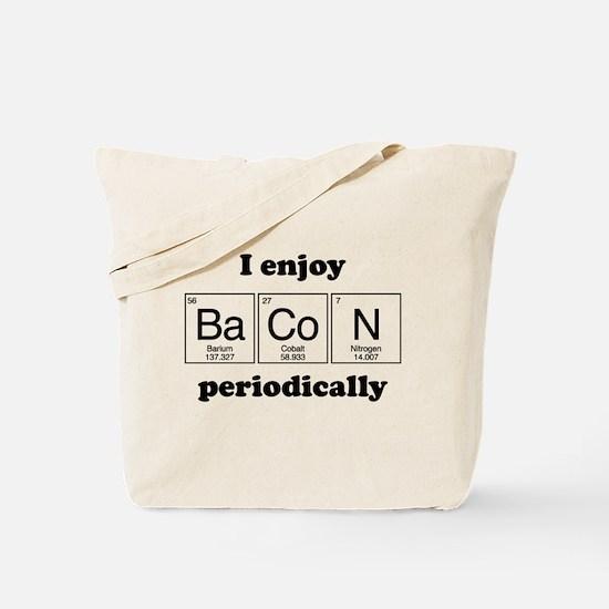 I Enjoy Bacon Periodically Tote Bag
