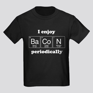 I Enjoy Bacon Periodically Kids Dark T-Shirt