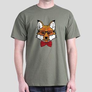 Hipster Fox Dark T-Shirt