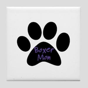 Boxer Mom Tile Coaster