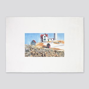 Nubble Lighthouse Cape Neddick Main 5'x7'Area Rug