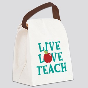 Live,Love, Teach Canvas Lunch Bag