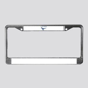 T-Rex Crossing License Plate Frame