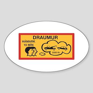 Parking 10 Min Maximum - Iceland Oval Sticker