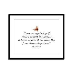 Not against golf... Framed Panel Print