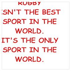 rugby joke Poster