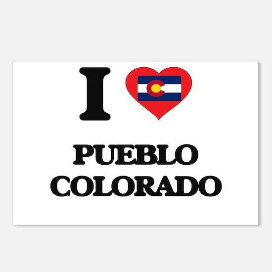 I love Pueblo Colorado Postcards (Package of 8)