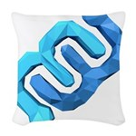 EyeWire 3D poly SQUARE Woven Throw Pillow
