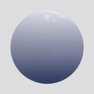 ombre navy blue Ornament (Round)