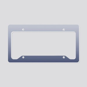 ombre navy blue License Plate Holder