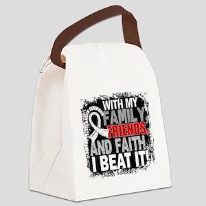 Mesothelioma Survivor FamilyFrien Canvas Lunch Bag