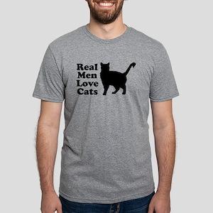 Real Men Love Cats Mens Tri-blend T-Shirt