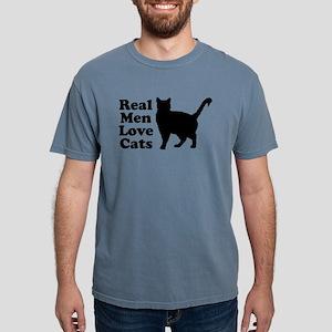Real Men Love Cats Mens Comfort Colors Shirt