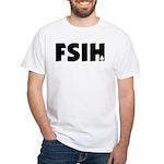 FSIH Fish Poker Shirt White T-Shirt