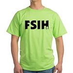 FSIH Fish Poker Shirt Green T-Shirt