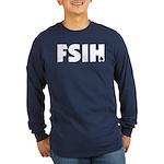 FSIH Fish Poker Shirt Long Sleeve Dark T-Shirt