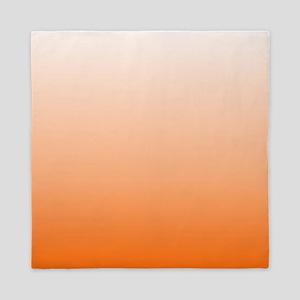 ombre Orange tangerine Queen Duvet