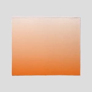 ombre Orange tangerine Throw Blanket