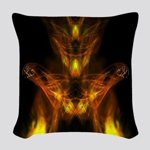Bursting Into Flames Woven Throw Pillow