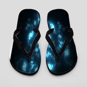 Aqua Galaxy Glow Flip Flops