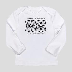 CUSTOM 8 Photo Frame Black Long Sleeve T-Shirt